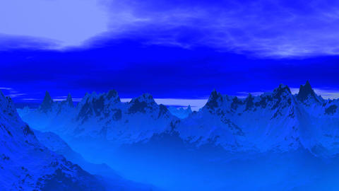Blue mountain peaks Animation