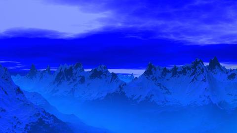 Blue mountain peaks Stock Video Footage