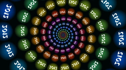 2012. The spiral from color full-spheres Animation