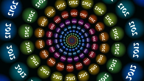 2012. The spiral from color full-spheres Stock Video Footage