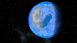 Blue planet. Depths of space Animation