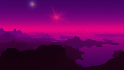 Fantastic planet. Falling stars. (UFO) Stock Video Footage