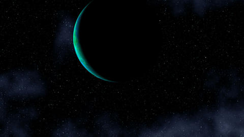 The planet in the star sky Animation