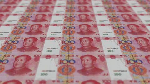 Printing Money Animation,100 RMB bills Animation