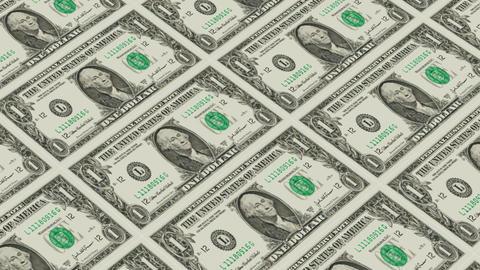 Printing Money Animation,1 dollar bills Stock Video Footage