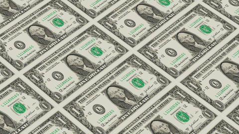 Printing Money Animation,1 dollar bills Animation