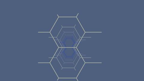 Fragment constructions (hexagon) Stock Video Footage