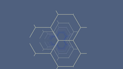 Fragment constructions (hexagon) Stock Video Footage