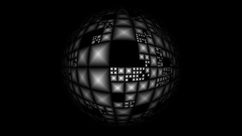 Rotating full-sphere (Planet of pyramids) Stock Video Footage
