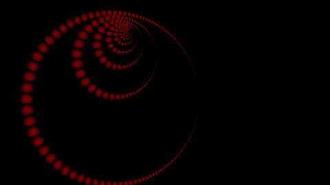 Spiral from red full-spheres Stock Video Footage