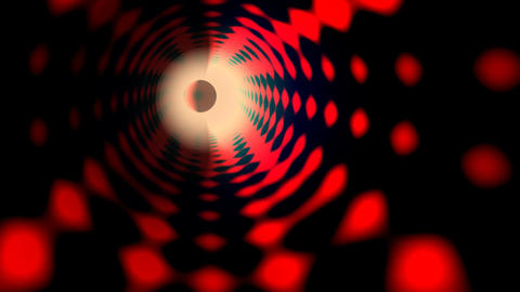 Full-sphere in the red tunnel Stock Video Footage