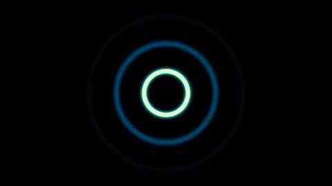 Dispersing circles Stock Video Footage