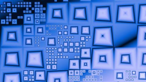 Blue pyramids (crystals) Stock Video Footage