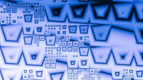 Blue pyramids (crystals) Animation