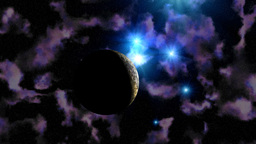 The planet in the star sky Stock Video Footage