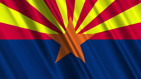 ArizonaFlagLoop01 Stock Video Footage