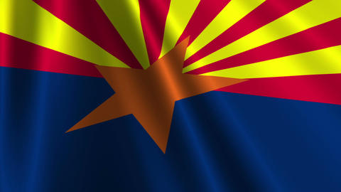 Arizona Flag Loop 02 Animation