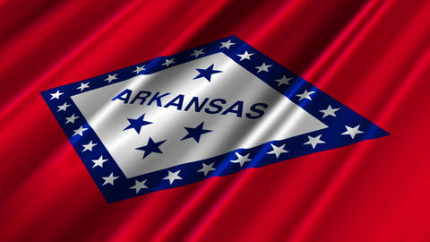 Arkansas Flag Loop 02 Stock Video Footage