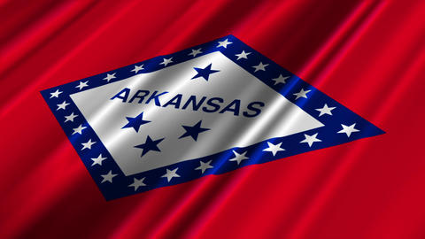 Arkansas Flag Loop 02 Stock Video Footage