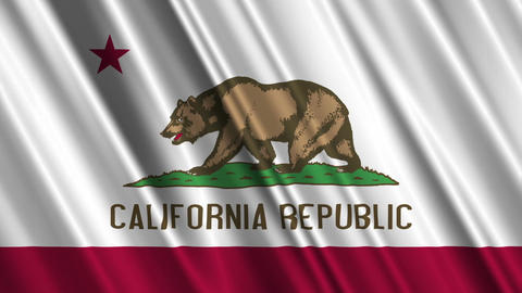 California Flag Loop 01 Stock Video Footage