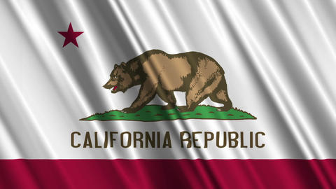 California Flag Loop 01 Animation
