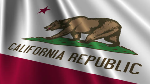California Flag Loop 03 Stock Video Footage