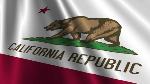 California Flag Loop 03 Stock Video Footage