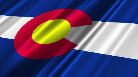 Colorado Flag Loop 02 Stock Video Footage
