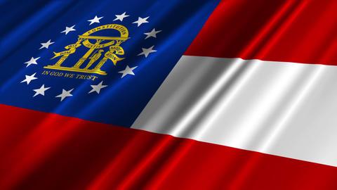 Georgia USstate Flag Loop 02 Stock Video Footage
