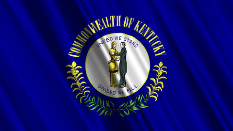 Kentucky Flag Loop 01 Stock Video Footage