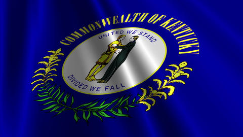 Kentucky Flag Loop 03 Animation