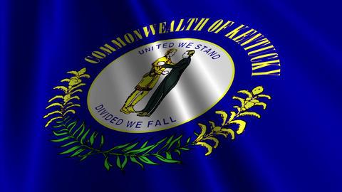 Kentucky Flag Loop 03 Animation