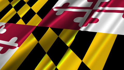 Maryland Flag Loop 02 Stock Video Footage