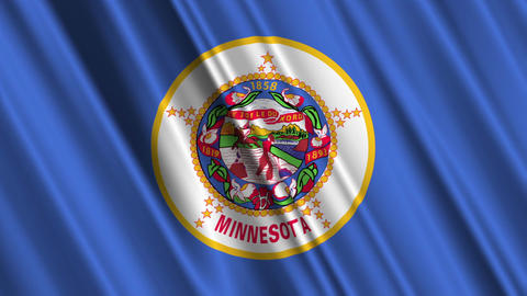 Minnesota Flag Loop 01 Stock Video Footage