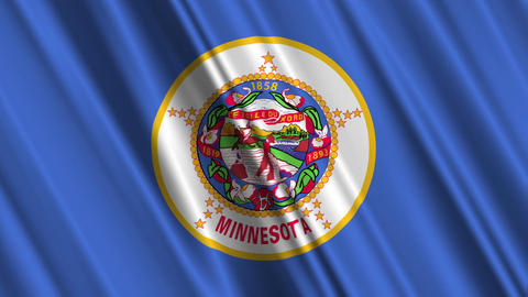 Minnesota Flag Loop 01 Animation