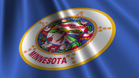 Minnesota Flag Loop 03 Stock Video Footage