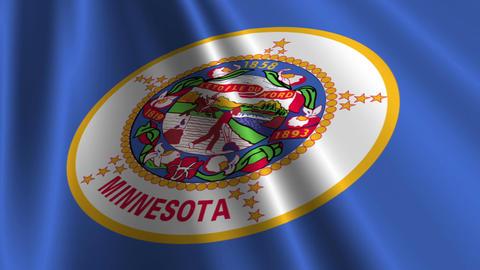 Minnesota Flag Loop 03 Animation