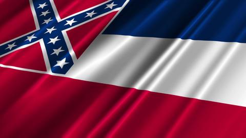Mississippi Flag Loop 02 Stock Video Footage