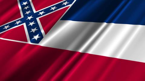 Mississippi Flag Loop 02 Animation