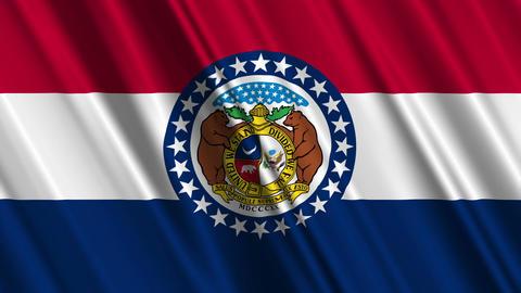 Missouri Flag Loop 01 Stock Video Footage