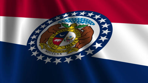 Missouri Flag Loop 03 Stock Video Footage