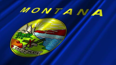 Montana Flag Loop 02 Animation