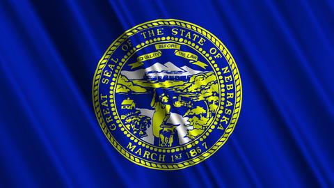 Nebraska Flag Loop 01 Stock Video Footage