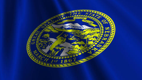 Nebraska Flag Loop 03 Stock Video Footage