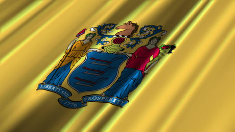 New Jersey Flag Loop 02 Stock Video Footage