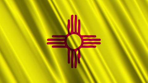 New Mexico Flag Loop 01 Stock Video Footage