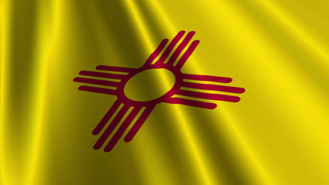 New Mexico Flag Loop 03 Stock Video Footage