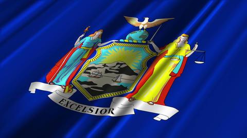 New York Flag Loop 02 Stock Video Footage
