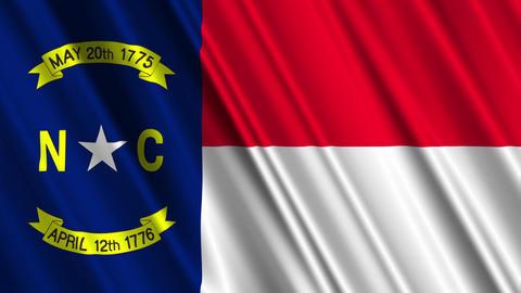 North Carolina Flag Loop 01 Stock Video Footage