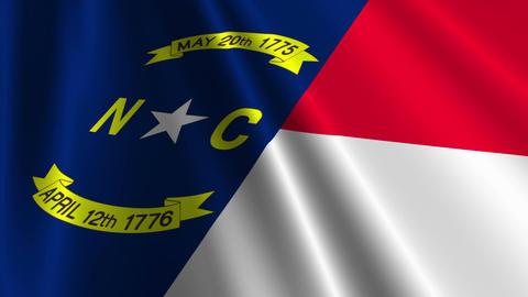 North Carolina Flag Loop 03 Stock Video Footage